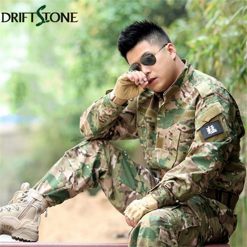 Camouflage Military Tactical Airsoft Paintball War Game BDU Clothes Combat Uniform Coat & Pants Multicam Suits