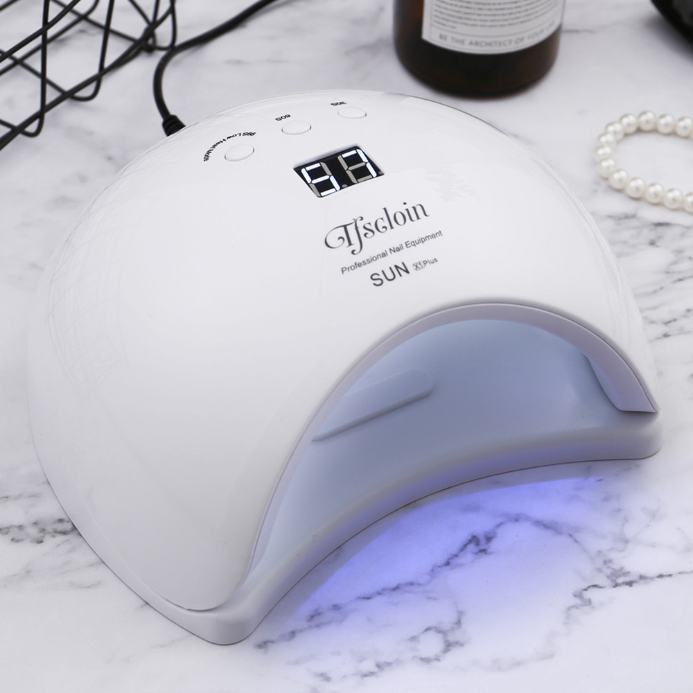 Humor Tfscloin Sun X1plus 50w Uv Led Lamp Nail Dryer 24leds 30/60/99s Timer Button With Lcd Display For All Type Gels Nail Dryers Beauty & Health