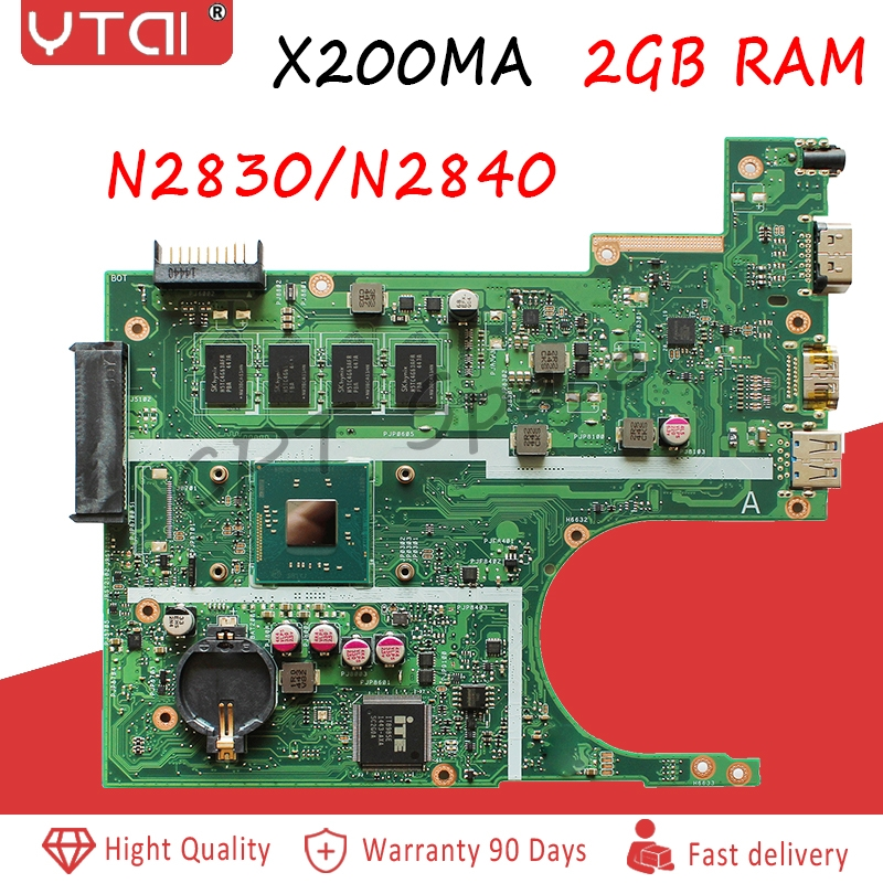 X200MA motherboard N2830 N2840 2G Memory For ASUS X200M REV 2 1Laptop motherboard X200MA Mainboard 100