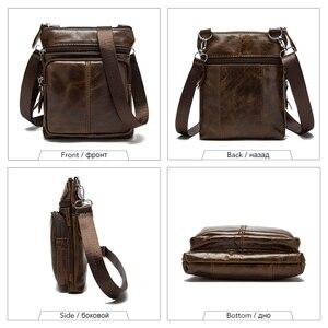 Image 3 - Westal épaule travail affaires messager bureau femmes hommes sac véritable mallette en cuir pour sac à main mâle femme petit Portable