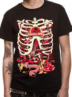 Printed T Shirt Summer Men S Rick And Morty Anatomy Park Get Schwifty Adult Licensed Black