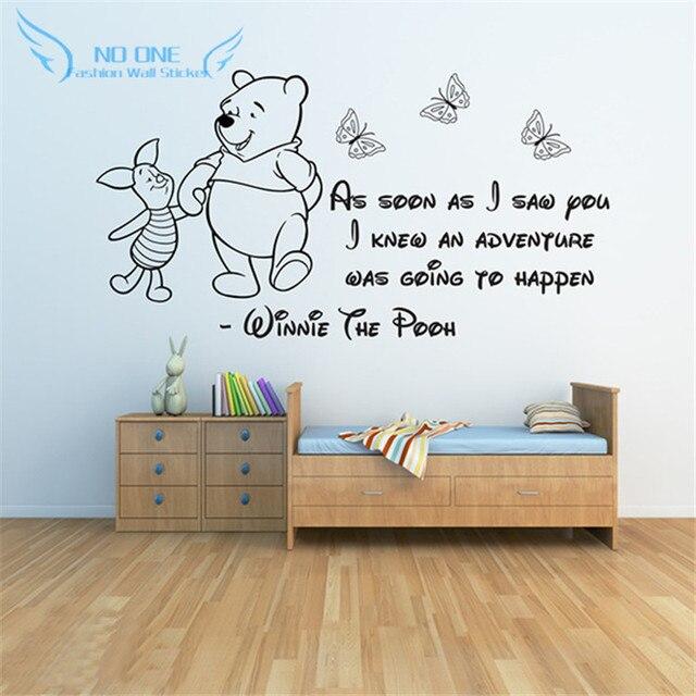 Winnie The Pooh Wandaufkleber 3, Baby Mädchen Jungen Schlafzimmer Dekor  Wandtattoos Zitate Kinder
