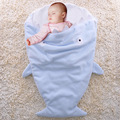 2016 Baby Sleeping Bag Shark Newborn Fleece Sleeping Bag Winter Stroller Bed Swaddle Blanket Wrap Bedding Cute Baby Sleeping Bag