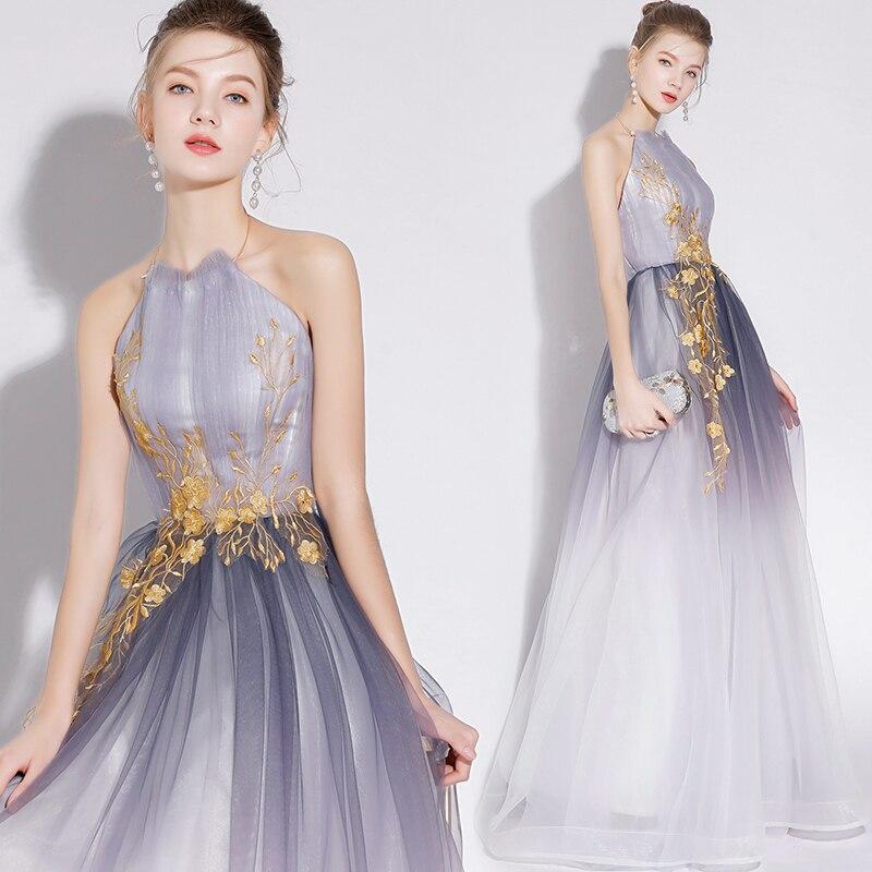 Wedding Gowns For Less: Elegant Tulle Women Dress For Wedding Embroidery Halter