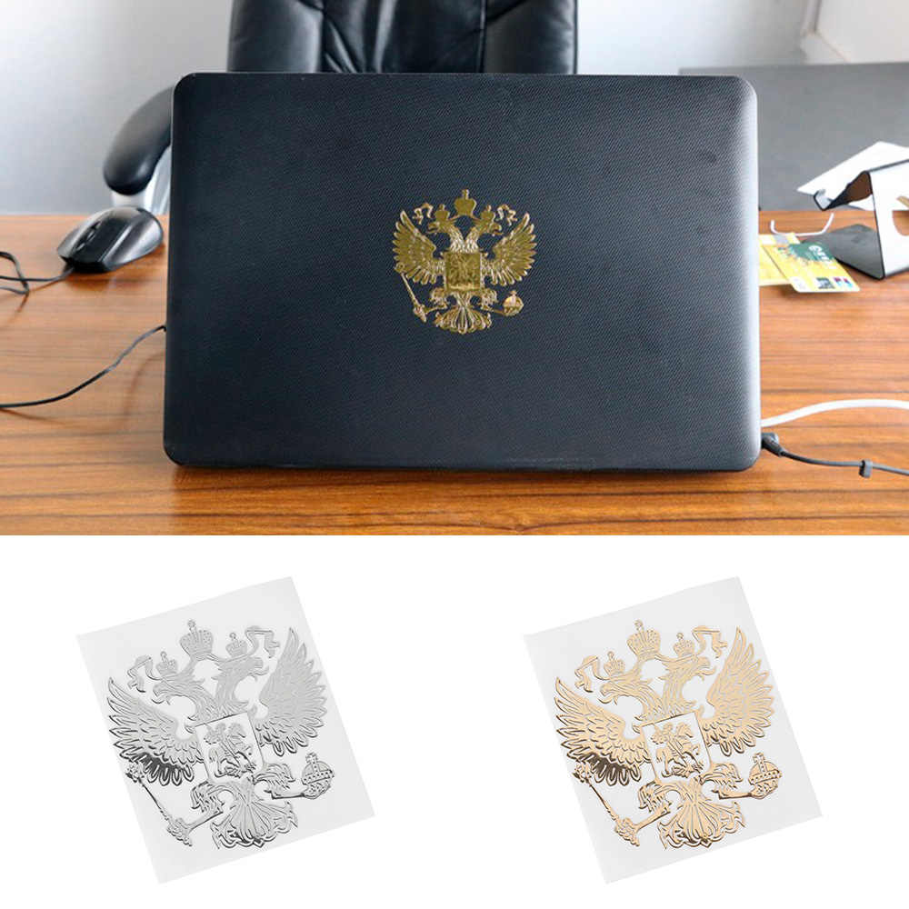 Brasão de Armas da Rússia Pop Rosa Níquel Águia Emblema de Metal Adesivos de Carro Decalques Da Federação Russa para o Estilo Do Carro Laptop adesivo