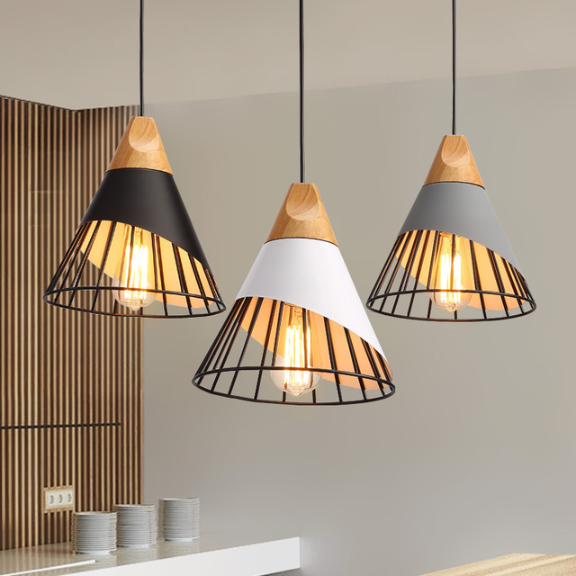 Modern pendant lights fixture north europe black white gray modern pendant lights fixture north europe black white gray pendant lamps home indoor lighting cafes pub mozeypictures Gallery