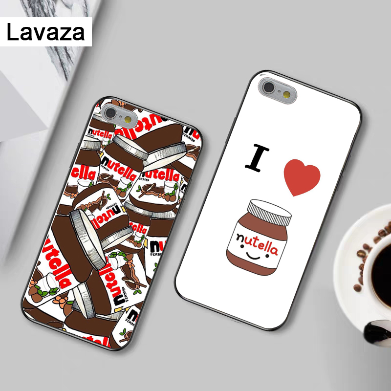 Lavaza food Chocolate Nutella Silicone Case for iPhone 5 5S 6 6S Plus 7 8 11 Pro X XS Max XR in Fitted Cases from Cellphones Telecommunications
