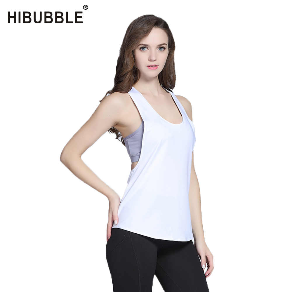 b1a2c041 HIBUBBLE Sexy Sport Fitness Tight Yoga Shirt Dry Fit Sleeveless Gym Top  Sportswear Blouses Running Vest