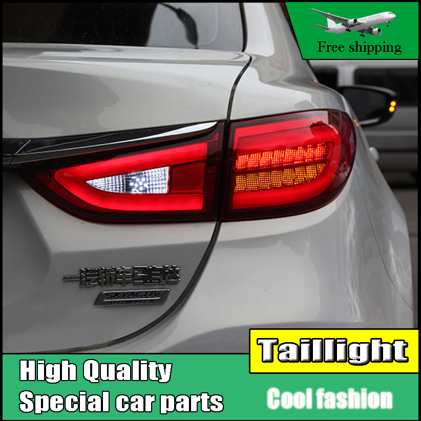 Car Styling TailLight Case For Mazda 6 Atenza Sedan 2014 2015 Taillights LED Tail Lamp Rear Lamp DRL+Brake+Park+Signal light car styling tail light case for suzuki swift taillights 2005 2014 led tail lamp rear lamp drl brake park signal light