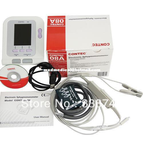 Veterinary CONTEC08A Vet Digital BP Monitor with Ear Tongue SPO2 Probe contec08a veterinary digital bpm with free pc softwear and vet spo2 probe