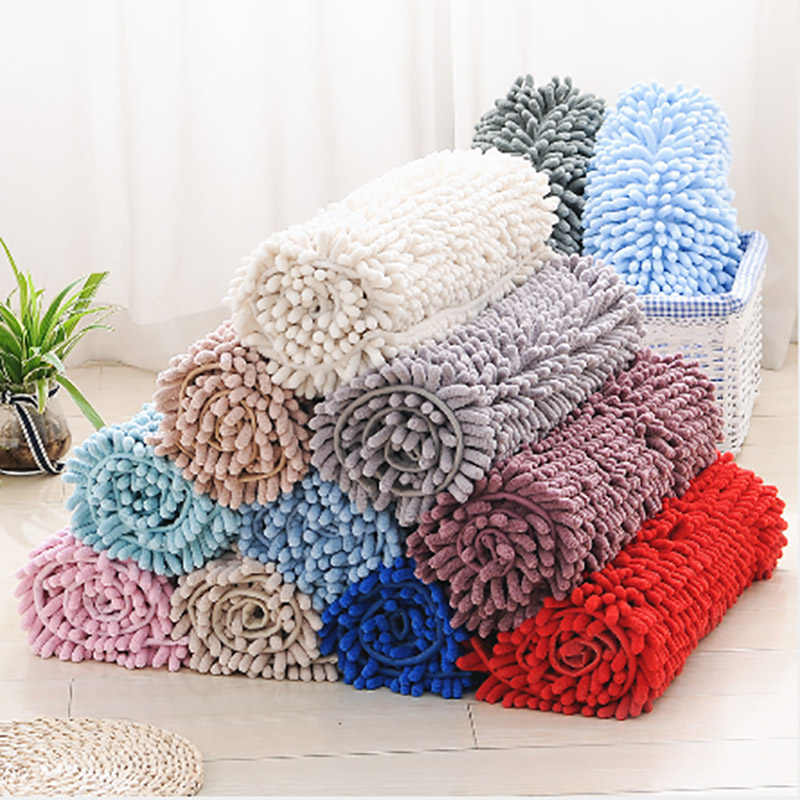 Soft Microfiber Shag Bath Rug Extra Absorbent And