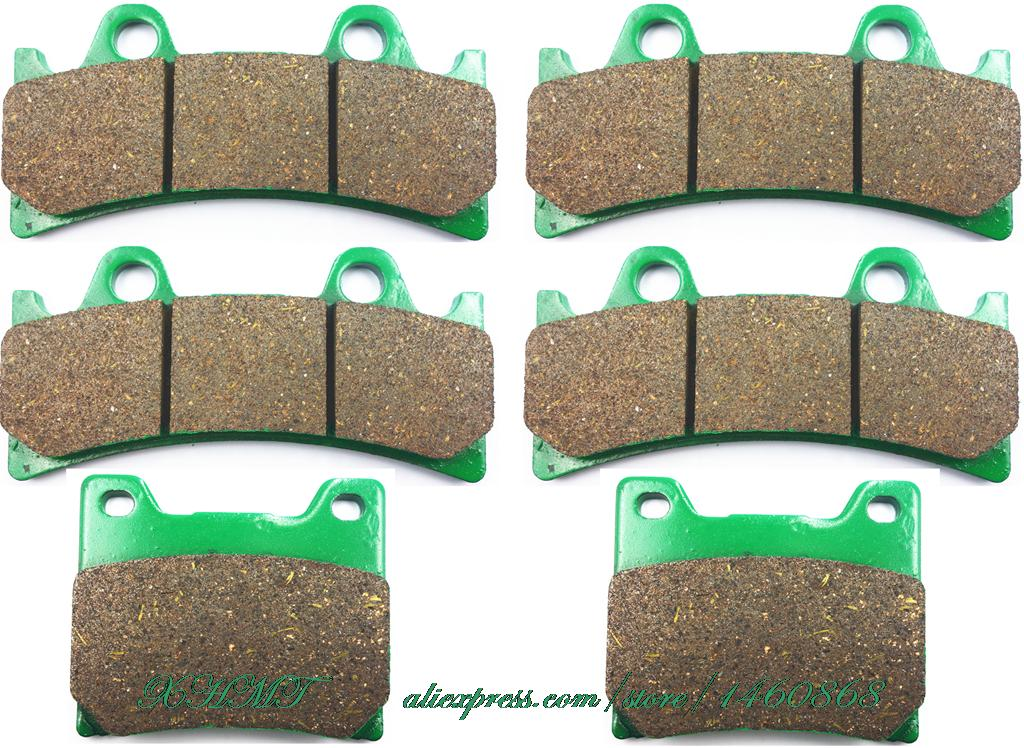 Brake Shoe Pads Set For <font><b>Yamaha</b></font> Fzr1000 <font><b>Fzr</b></font> <font><b>1000</b></font> R Genesis -Ex-Up 1994 1995 / Yzf750 Yzf 750 Rr-Sp 1993 1994 1995 1996 1997 1998 image