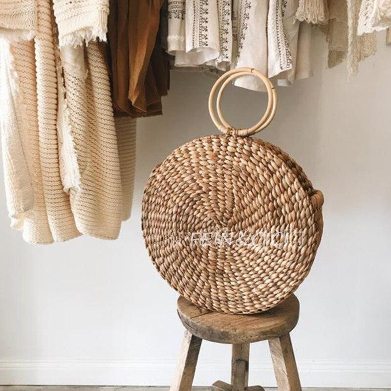 beach bag round straw totes basket bucket bag summer bags s