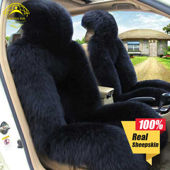 Okayda car seat cover Soft Australia fur natrual sheepskin 1pc deluxecar accessories cushion car styling factory price