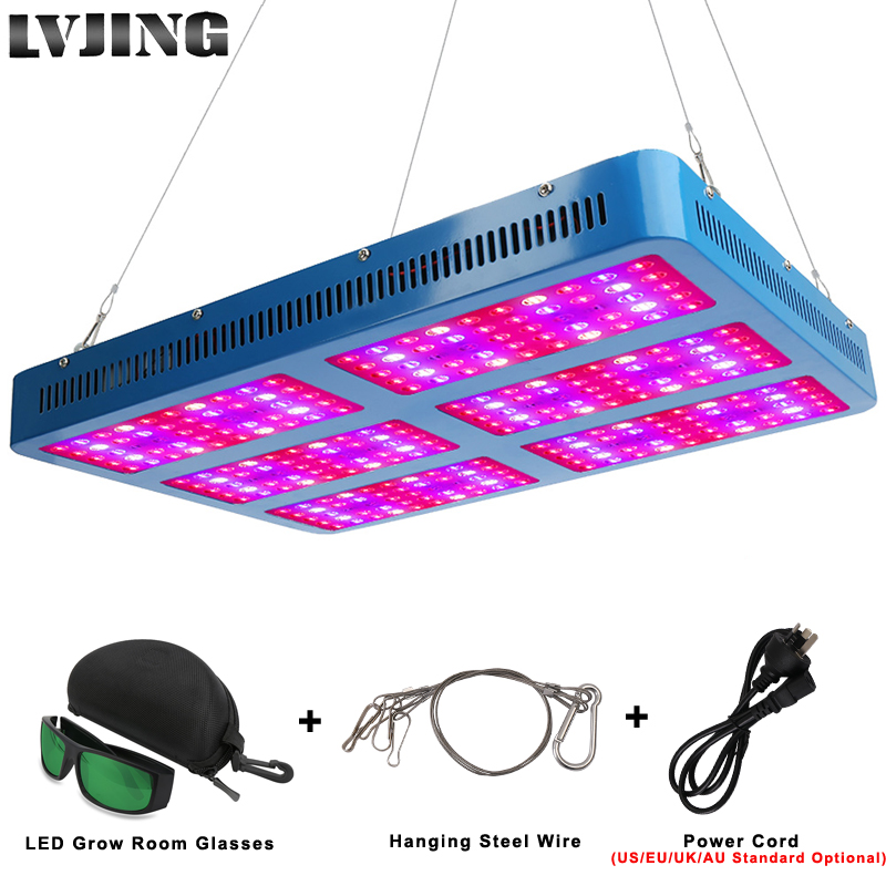 LVJING LED Grow Light Elite 1000/2000/3000W Full Spectrum Blue Panel Lamp For Indoor Greenhouse Grow Tent Plants Grow Led Lights
