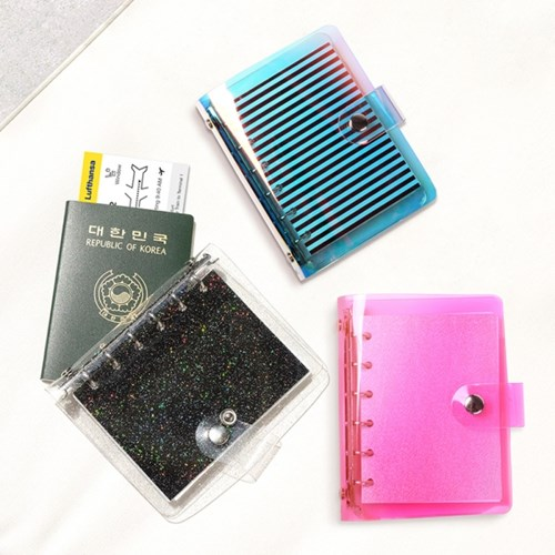 Pack Me Transparent Design Spiral Journal DIY Travel Diary Book 12*14.5cm Plan Paper+Free Note 112 Sheets Free Shipping