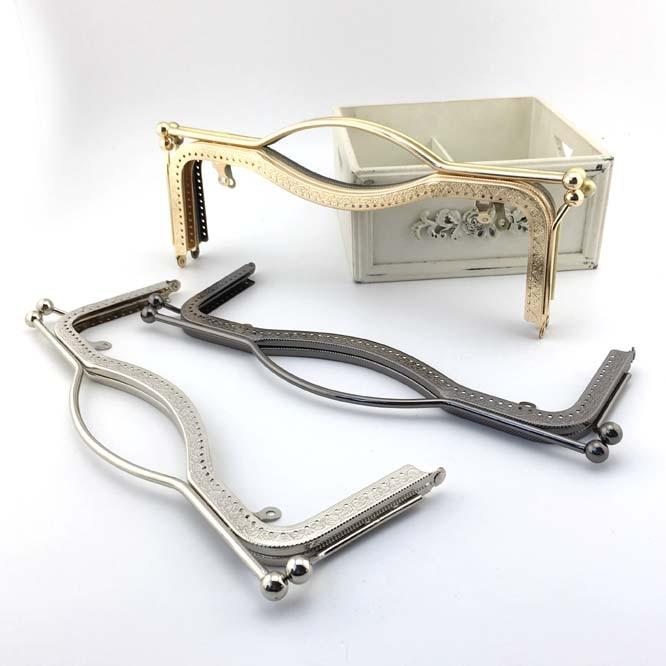6f9e7acbf6 K392 27CM shape of the lips purse frame handle big Kiss Clasp Coin  embossing DIY Quilting handmade bag /bronze silver gold black
