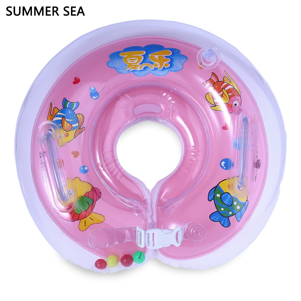Product details of new inflatable floating swim ring kids children toy - 3 Colors Safety Inflatable Swimming Tube Ring Kids Child Baby Adjustable Infant Swim Neck Float Bathing Protector Water Sports In Swimming Rings From Sports