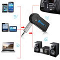 Universal 3.5mm De Streaming A2DP Sem Fio Bluetooth Car Kit Carro AUX Áudio Music Receiver Adaptador Handsfree com Microfone Para O Telefone MP3