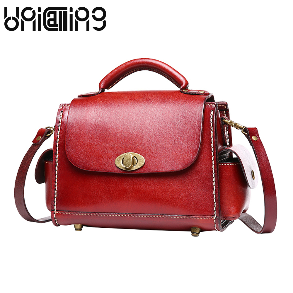New style women bag Fashion Retro Genuine Leather women messenger bags Cow Leather Vegetable tanned leather small shoulder bags new brand genuine leather women bag fashion retro stitching serpentine quality women shoulder messenger cowhide tassel small bag