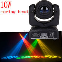High Quality Mini 10W Led Spot Moving Head 7 Gobo Stage Light Disco Dj DMX512 Rgbw