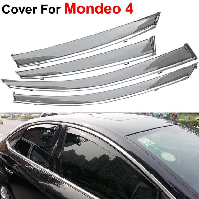 4pcs/lot Windows Visors For Ford Mondeo Fusion 4 2012 2013 2014 Sun Rain Shield Covers Car Styling Awnings Shelters Stickers