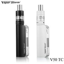 Pluma vape cigarrillo electrónico kit vapor storm v50 caja tc kit mod 50 W Cigarrillo electrónico para EC 2 Tanque E Hookah Vaporizador E Humo X9074