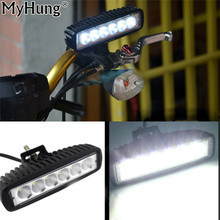 Car LED Work Light Bar 12V Flood Waterproof For Offroad Boat Car Tractor Truck SUV ATV Driving Fog Lamp Auto Accessories 1pc
