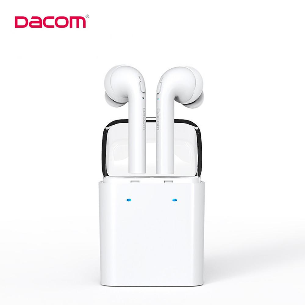 Prix pour D'origine Dacom MINI Vrai Sans Fil Bluetooth Écouteur Pour iPhone 7 7 s airpods Double Jumeaux Bluetooth Casque avec la Boîte de Détail