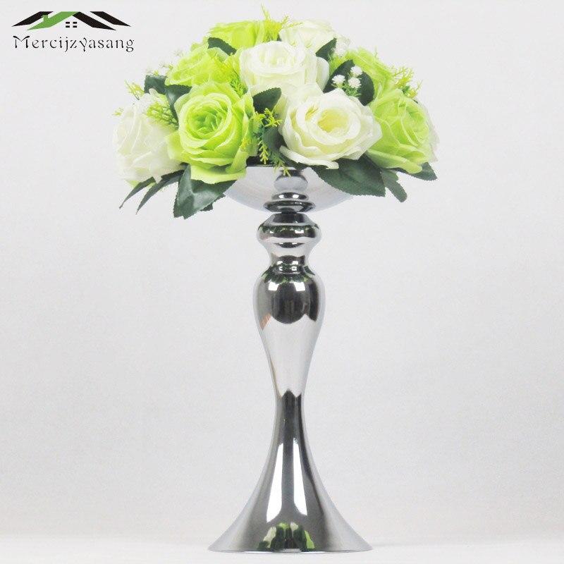 Drzaky Svicek Kvetiny Vaza 32cm 20 Stojan Stribrny Svicen