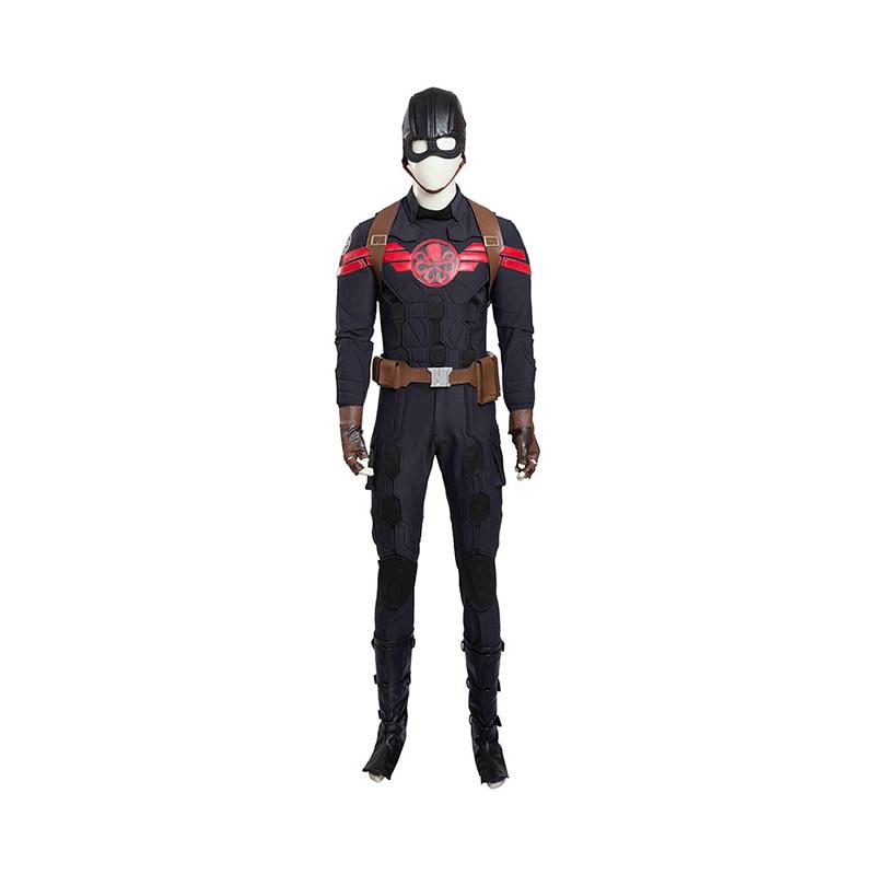 High Quality Captain America HYDRA Cosplay Costume Adult Men Superhero HYDRA Costume Full Sets Halloween Cosplay Costume