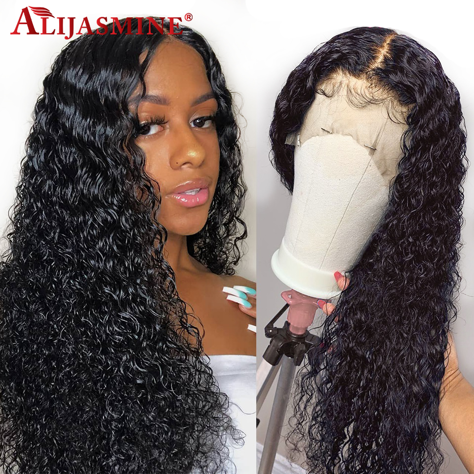 Curly Lace Front Human Hair Wigs For Black Women Brazilian Remy Glueless Lace Front Wig Pre