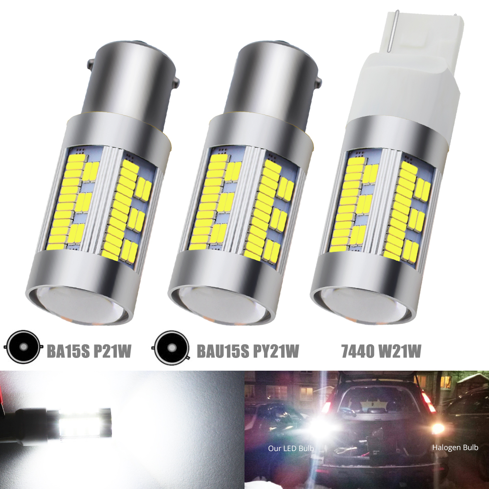 Lights & Lighting 2pcs Yellow Car Bulb35-smd T20 W21w 7440 High Power Led Replacement Bulbs For Car Fog Lights Daytime Running Lights Drl Lamps Led Bulbs & Tubes