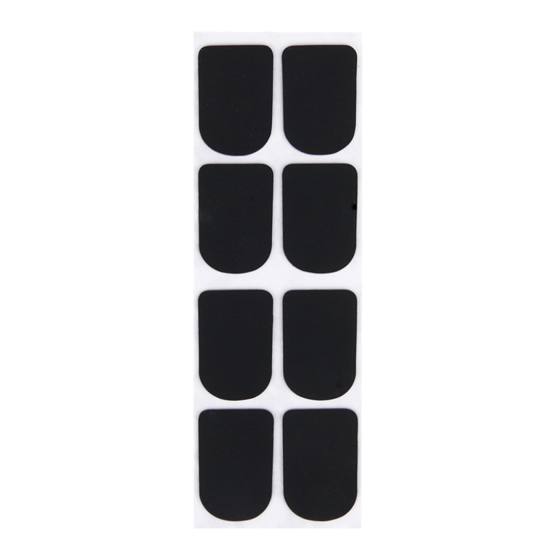 ABLD-8pcs Clarinet/Soprano Saxophone Sax Mouthpiece Patches Pads Cushions Black---0.8mm