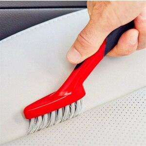 Image 4 - Lucullan ergonomicznie antypoślizgowe gumowy uchwyt Auto Detail pędzle do wykończenia, skóra, rowków, wnętrze narzędzia do czyszczenia