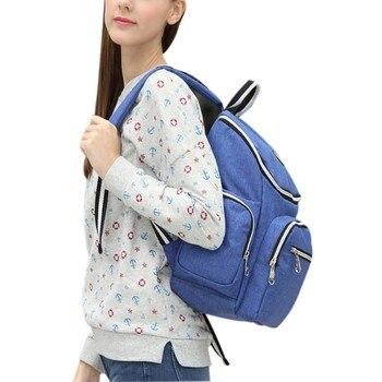 мокрый сухой рюкзак | 3 шт./компл. сумки для подгузников Мумия Материнство Уход за ребенком подгузник сумка брендовая большая емкость сухой влажный дизайнерский ...