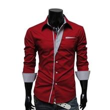 2016 Hot sale Mens Formal Business Shirts Striped Shirt Slim Fit Chemise Homme Long sleeve Shirt Brand Men's Dress chemise