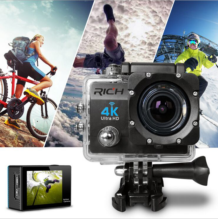 5pcs/lot 4K SJ8000R Ultra 2.0 Inch Wifi Sport DV Action Camera Camcorder Sports Camera Remote bike recorder aerial photography