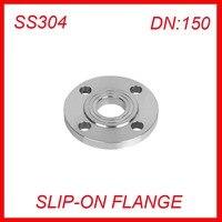 DN150 Stainless Steel SS304 RAISED FACE 4 Bolt SLIP ON FLANGE Industrial