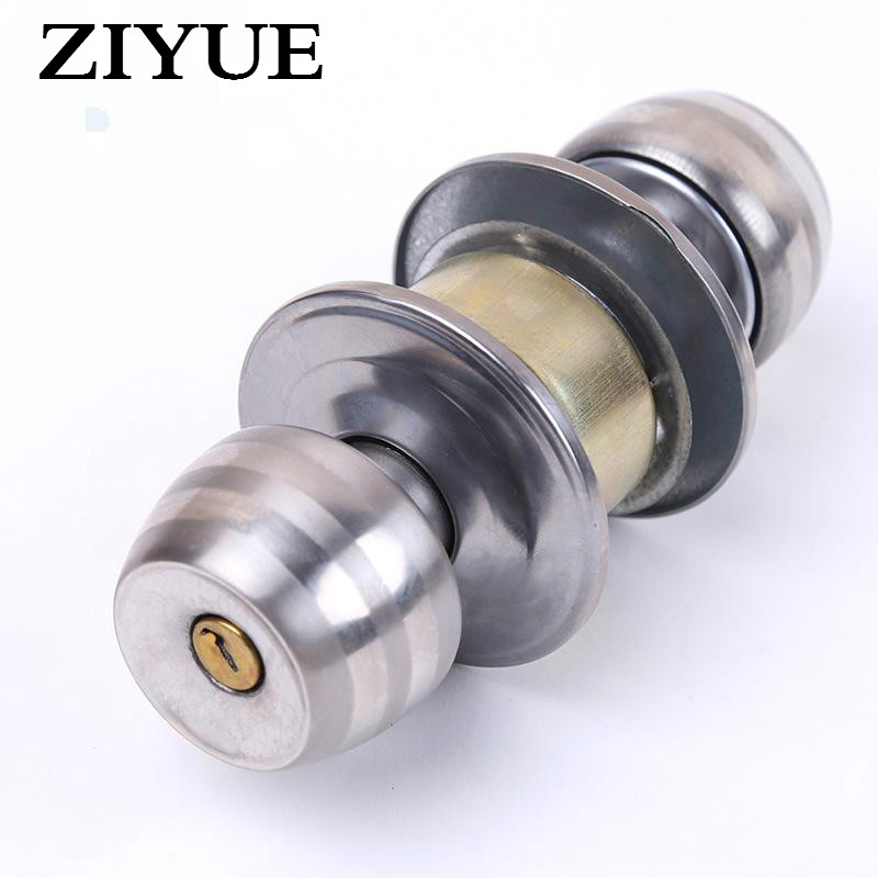 Free Shipping Bathroom Door Lock Mechanical Locks Spherical Interior Doors for Home Safe Room Lock free shipping electric rim lock electro mechanical lock used for access control systems anti theft doors wooden doors etc