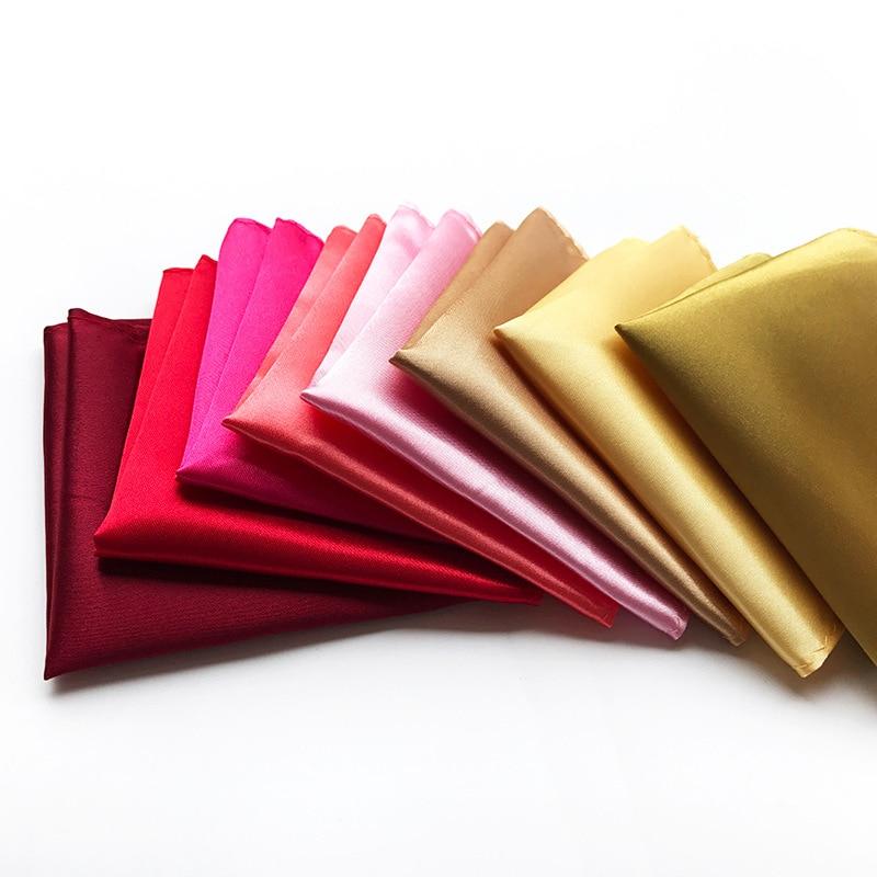 Unique Design Solid Color Men's Handkerchief Pocket Towel Explosion Models Men's Business High Quality Polyester Pocket Towel