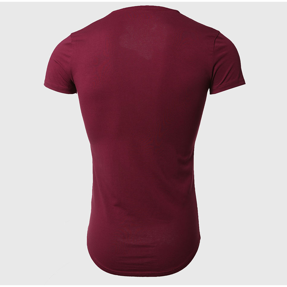 21 Colors Deep V Neck T-Shirt Men Fashion Compression Short Sleeve T Shirt Male Muscle Fitness Tight Summer Top Tees 24