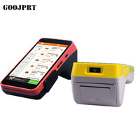 JP-A5 Handheld POS Terminal Android PDA with built in thermal Printer 1D CCD Barcode Scanner For Android Tablet Pc
