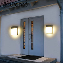 Outdoor Wall Lamp Stairs Balcony Aisle Waterproof Wall Lights Minimalist Modern 18W LED Courtyard Lights Wall Lamps BL294