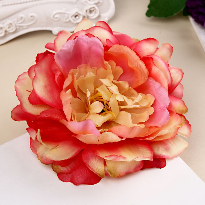 Wholesale 15pcs Fabric Peony Flower Hairpin bohemian Romantic Girls Floral Hair Clip Brooch Beach Travel Dress Hair Accessories  2016 trendy fabric blooming peony flower corsage brooch woman hair decorations