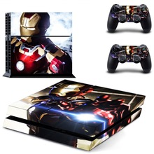 PS4 Skin Iron Man Vinyl Decal Cover for Sony Playstation 4 n Two Controllers Sticker