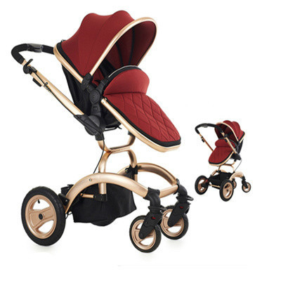 baby stroller Summer and winter amphibious stroller can sit can lie low the pram high landscape suspension folding