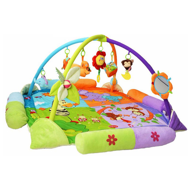 130Cm Baby Game Activity Mats Gym Play Cushion Educational Fitness Rug Twin Colorful Lovely Toys TL0013