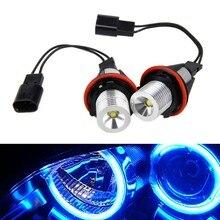 2PCS/Set 10W/Pair Blue Light LED Angel Eyes Halo Ring Bulb For E39 E53 E60 E61 63126904048
