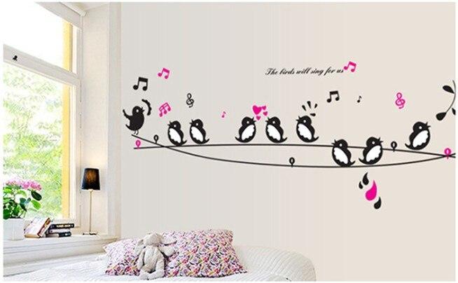 Superb ... Cartoon Birds Singing Wall Sticker Baby Kids Nursery Room Art Mural  Decal DIY Home Decor Kindergarten ...
